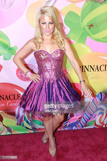Model Jaimie Hilfiger poses at the 6th Annual Kandyland Event at The Playboy Mansion on June 25 2011 in Beverly Hills California