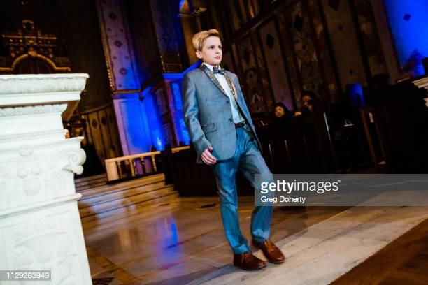 Model Jake Benbow attends Sanctuary Fashion Week on March 7 2019 in Los Angeles California