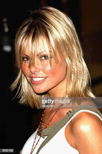 Model Jakki Degg arrives at the premiere of Bad Boys 2 at the Odeon Leicester Square on September 30 2003 in London England