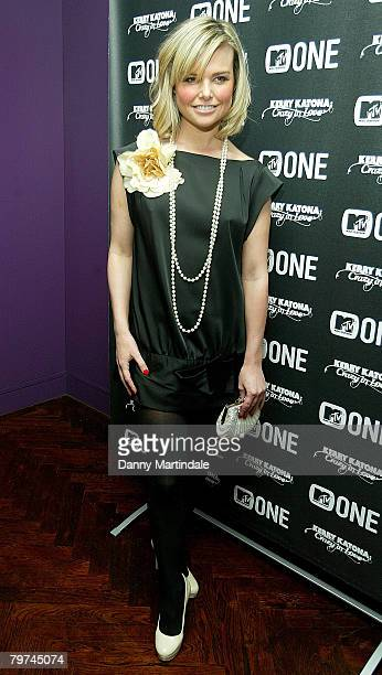 Model Jakki Degg attends Kerry Katona's party celebrating impending birth of her fourth child at the The Hospital on February 13 2008 in London...