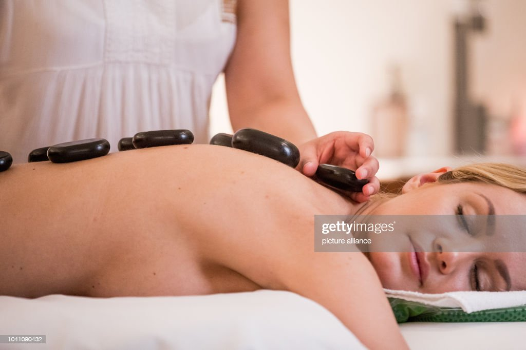 Model Jana Gets A Hot Stone Massage In A Spa In Duesseldorf Germany
