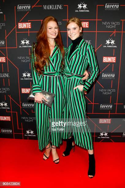 Model Jana Heinisch and Model Kim Hnizdo during the Bunte New Faces Night at Grace Hotel Zoo on January 15 2018 in Berlin Germany