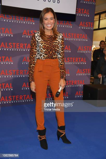 Model Jana Ina Zarrella attends the Late Night Shopping party on October 19, 2018 in Hamburg, Germany.
