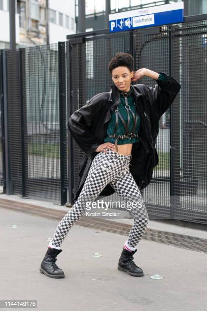Model Janaye Furman on February 28, 2019 in Paris, France.