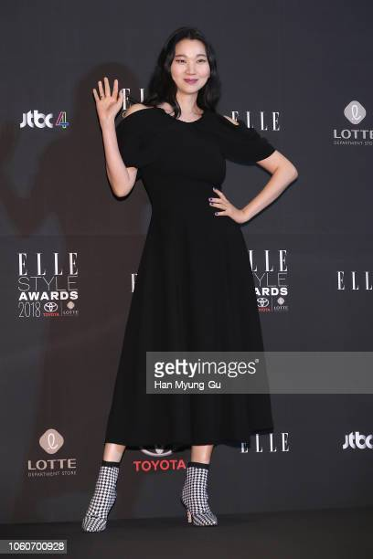 Model Jang YoonJu attends during 2018 The ELLE Style Awards on November 12 2018 in Seoul South Korea