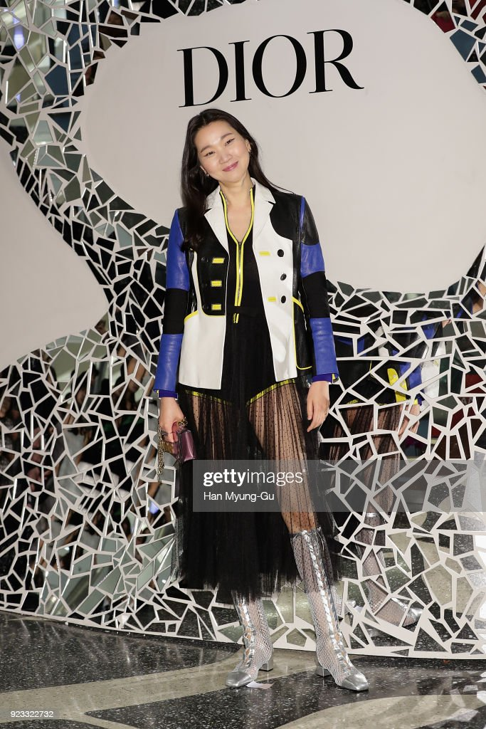 new style 2290a c3896 Model Jang Yoon-Ju attends the Dior 2018 S/S Collection Pop ...
