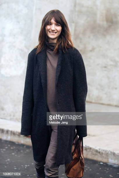 Model Janice Alida during Paris Fashion Week Fall/Winter 2017 on March 5 2017 in Paris France