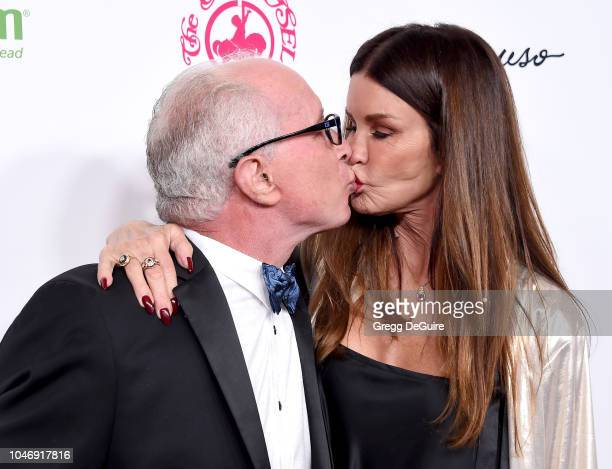 Model Janice Dickinson and husband Dr Robert Gerner arrive at the 2018 Carousel Of Hope Ball at The Beverly Hilton Hotel on October 6 2018 in Beverly...
