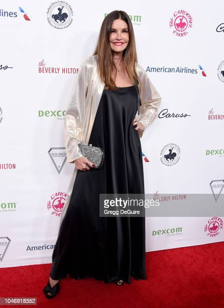 Model Janice Dickinson arrives at the 2018 Carousel Of Hope Ball at The Beverly Hilton Hotel on October 6 2018 in Beverly Hills California