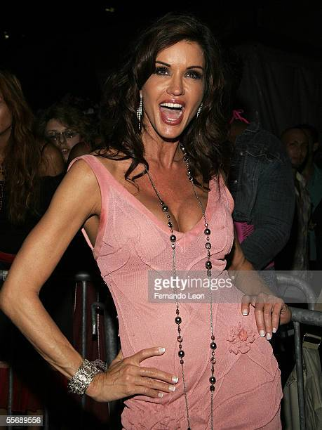 Model Janice Dickinson attends day 8 of Olympus Fashion Week Spring 2006 at Bryant Park September 16 2005 in New York City