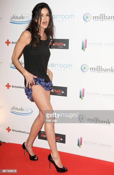 Model Janice Dickinson attends The Brit Awards screening party at Altitude on February 16, 2010 in London, England.