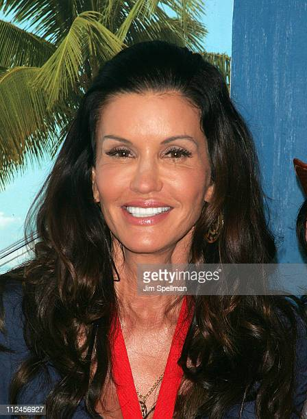 Model Janice Dickinson attends the model walkoff competition at the NBC Experience Store on August 25 2008 in New York City
