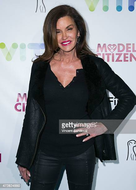 Model Janice Dickinson attends the VITY concert experience launch party at Siren Studios on May 9 2015 in Hollywood California