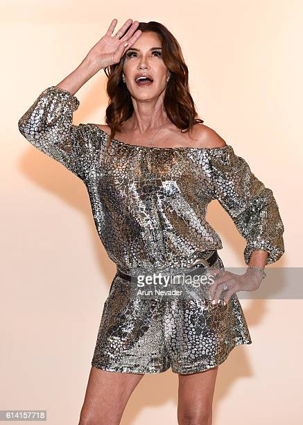 Model Janice Dickinson poses for portrait at Art Hearts Fashion Los Angeles Fashion Week on October 11 2016 in Los Angeles California
