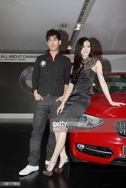 Model Janice Man and singer Aarif Lee attend BMW 1 Series launch on September 22 2011 in Hong Kong China