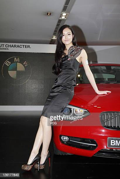 Model Janice Man attends BMW 1 Series launch on September 22 2011 in Hong Kong China