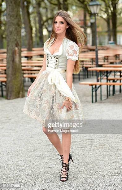 Model Janna Wiese during the 'EAGLES Fashion Dinner' at Nockherberg on April 6 2016 in Munich Germany