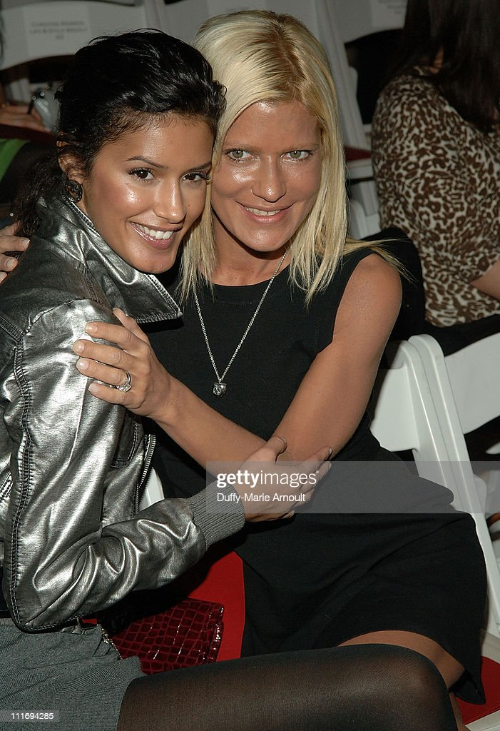 Model Jaslene Gonzalez and Publicist Lizzie Grubman attend Vivienne Tam Fall 2008 during Mercedes-Benz Fashion Week at The Promenade, Bryant Park on February 5, 2008 in New York City.