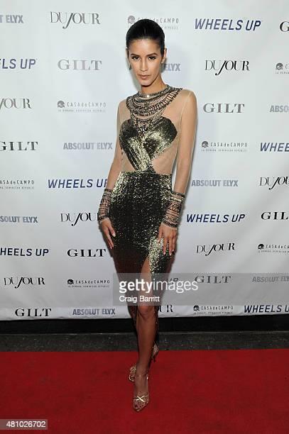 Model Jaslene Gonzalez attends DuJour Magazine's Jason Binn and Casa de Campo's celebration of Rob Gronkowski with Bruce Weber presented by Absolut...