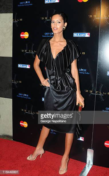 Model Jaslene Gonzalez attends the 33 Club Party presented by MLBCOM as part of the 2008 MLB AllStar Week at Roseland on July 13 2008 in New York City