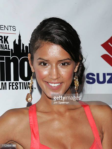 Model Jaslene Gonzalez attends the after party for 'American Son' during the 9th Annual New York International Latino Film Festival at Touch on July...