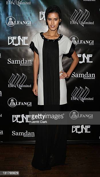 Model Jaslene Gonzalez attends the Besne collection launch party at ARENA Event Space on May 26 2010 in New York City