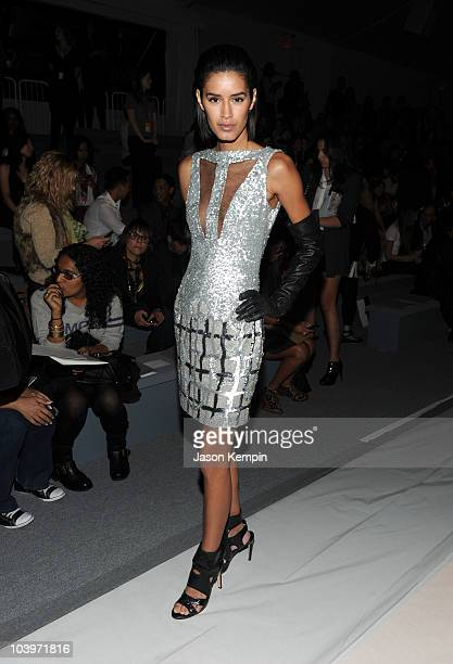 Model Jaslene Gonzalez attends the Edition by Georges Chakra Spring 2011 fashion show during MercedesBenz Fashion Week at The Stage at Lincoln Center...