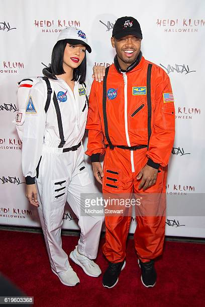 Model Jasmine Sanders and actor Terrence J attend Heidi Klum's 17th Annual Halloween party at Vandal on October 31 2016 in New York City