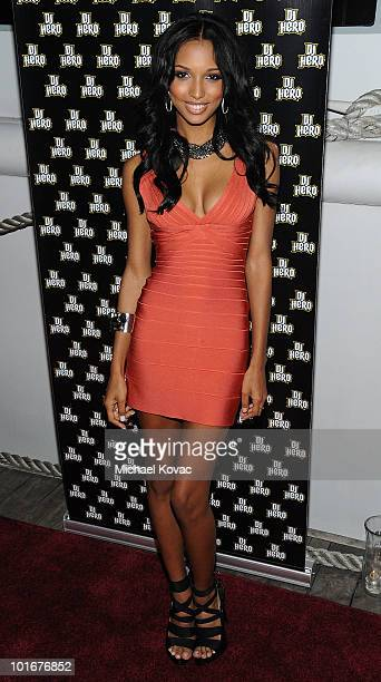 Model Jasmine Tookes arrives at the 21st birthday bash of actor Brandon Mychal Smith presented by Vivitar and DJ Hero on June 5, 2010 on the Endless...