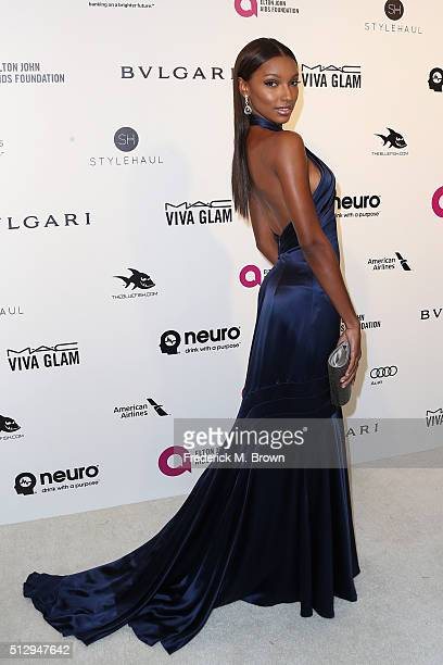 Model Jasmine Tookes attends the 24th Annual Elton John AIDS Foundation's Oscar Viewing Party on February 28 2016 in West Hollywood California