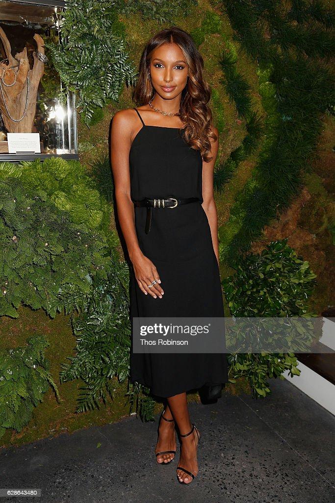 Model Jasmine Tookes attends the John Hardy Artisan in Residence Launch at John Hardy Soho Flagship on December 8, 2016 in New York City.