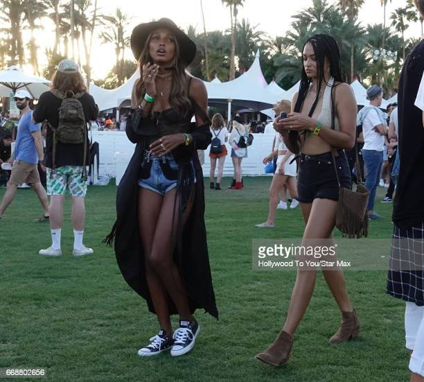 Model Jasmine Tookes is seen at Coachella on April 14 2017 in Indio CA