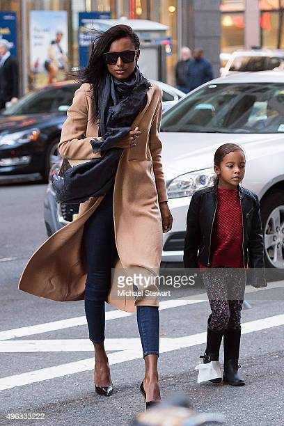 Model Jasmine Tookes is seen in Midtown on November 8 2015 in New York City