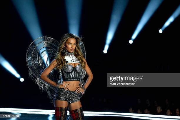 Model Jasmine Tookes walks the runway during the 2017 Victoria's Secret Fashion Show In Shanghai at MercedesBenz Arena on November 20 2017 in...