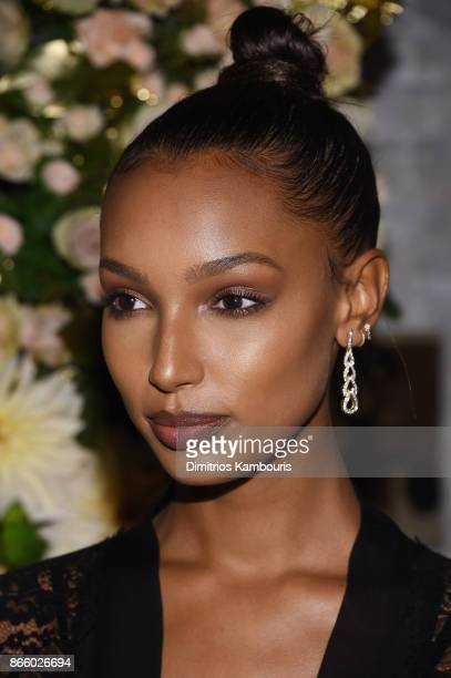 Model Jasmine Tookes wearing John Hardy jewelry attends John Hardy And Vanity Fair Celebrate Legends at Le Coucou on October 24 2017 in New York City