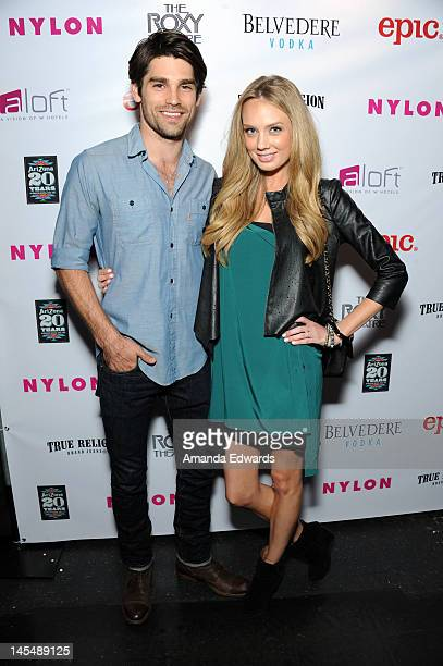 Model Jason Gaston and actress Melissa Ordway arrive at the NYLON Magazine June/July Music Issue Launch Party With Shirley Manson at The Roxy Theatre...