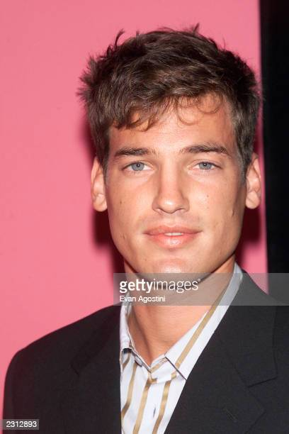 Model Jason Shaw arrives at the Emanuel Ungaro 35th anniversary fashion party extravaganza at the Armory in New York City. 9/5/2001. Photo: Evan...