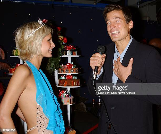 Model Jason Shaw professes his love for his girlfriend Paris Hilton during her 21st birthday party at Studio 54