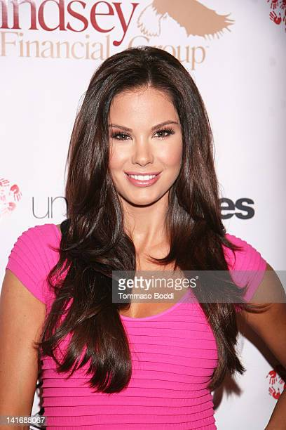 Model Jayde Nicole attends the LAFW grand finale event featuring Li Cari autumn/winter 2012 and Live auction benefiting Unlikely Heroes held at The...