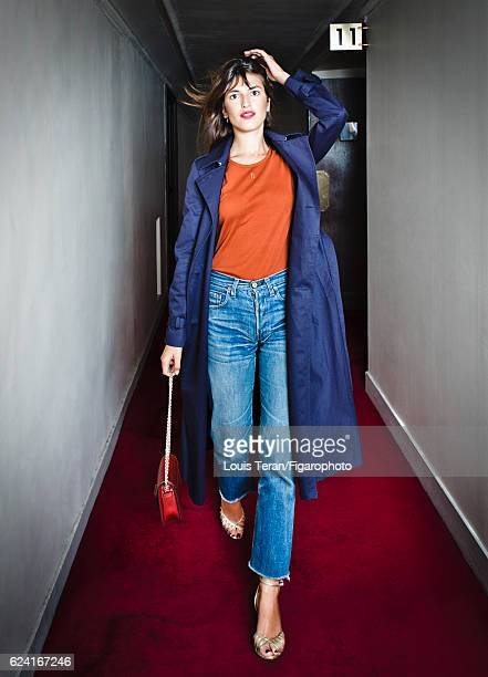 Model Jeanne Damas is photographed for Madame Figaro on October 4 2016 in Paris France PUBLISHED IMAGE CREDIT MUST READ Louis...