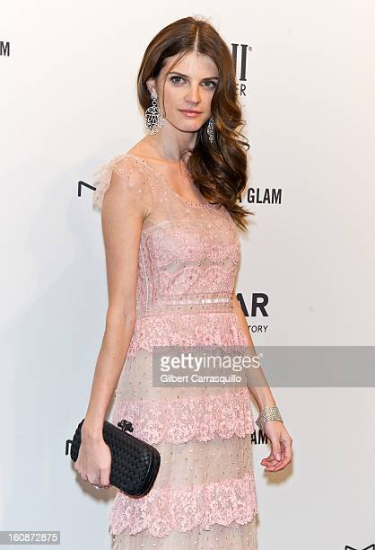 Model Jeisa Chiminazzo attends amfAR New York Gala To Kick Off Fall 2013 Fashion Week at Cipriani Wall Street on February 6 2013 in New York City
