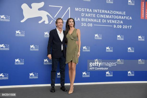 Model Jenna Hurt and John Branca attend the photocall of the movie 'Michael Jackson's Thriller 3D and making of Michael Jackson's Thriller' presented...