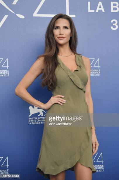 Model Jenna Hurt attends the photocall of the movie 'Michael Jackson's Thriller 3D and making of Michael Jackson's Thriller' presented out of...