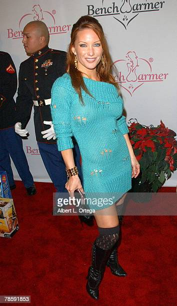 Model Jennifer Korbin Attends The Second Annual Bench Warmers Trading Cards Holiday Party And Toy Drive