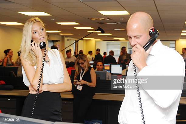 Model Jennifer Ohlsson attends the annual charity day hosted by Cantor Fitzgerald and BGC at the BGC office on September 11 2013 in New York City