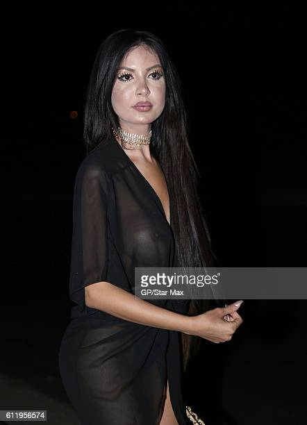 Model Jennifer Pamplona is seen on October 1 2016 in Los Angeles California