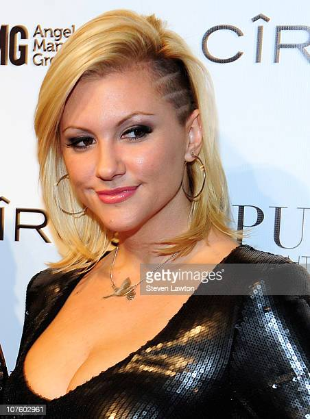 Model Jennifer Rovero arrives to celebrate her birthday bash at the Pure Nightclub at Caesars Palace on December 14 2010 in Las Vegas Nevada