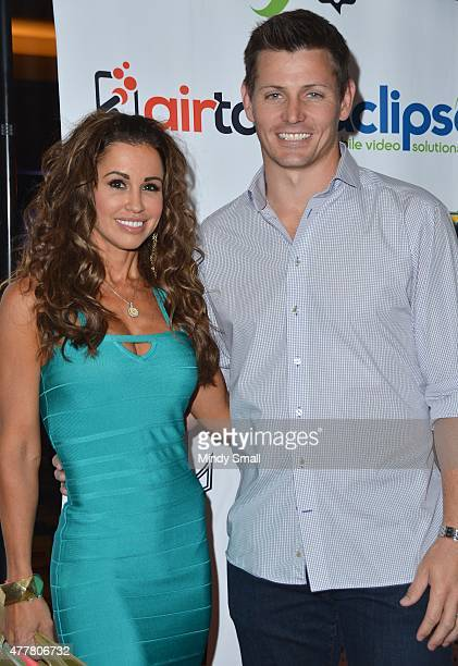 Model Jennifer WalcottArchuleta and former NFL player Adam Archuleta arrive at the Raising the Stakes for Cerebral Palsy Celebrity Poker Tournament...