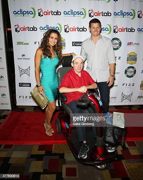 Model Jennifer WalcottArchuleta One Step Closer Foundation founder Jacob Zalewski and former National Football League player Adam Archuleta attend...