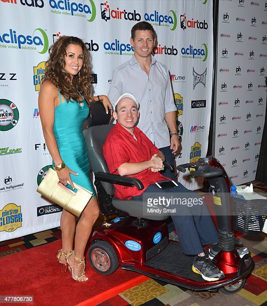 Model Jennifer WalcottArchuleta President CEO of the One Step Closer Foundation Jacob Zalewski and former NFL player Adam Archuleta arrive at the...